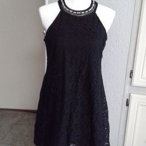 Candies Blk Beaded  Party Dress Size S
